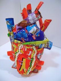 """""""Heart Attack,"""" Mixed Media Sculpture, 2009"""