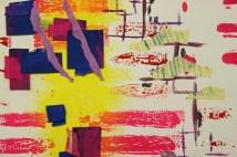 """Tracks I"" (detail), Mixed Media Collage, 2009"