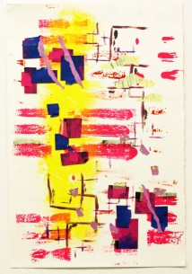 """""""Tracks I,"""" Mixed Media Collage, 2009"""
