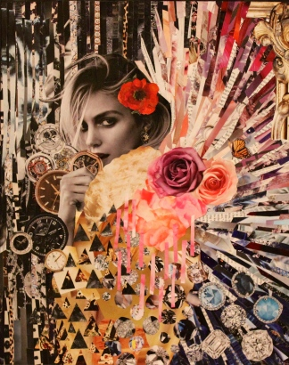 """""""Belle,"""" Mixed Media Collage, 2014"""