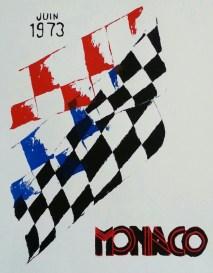 """Monaco 1973,"" Screen Print Ink on Paper, 2014"