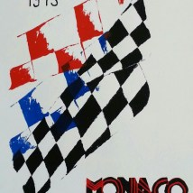"""Monaco 1973,"" Screen Print Ink on Paper, 2014"